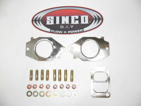 2 Rotor T3 Twin scroll - Gasket Stud Locknut Kit